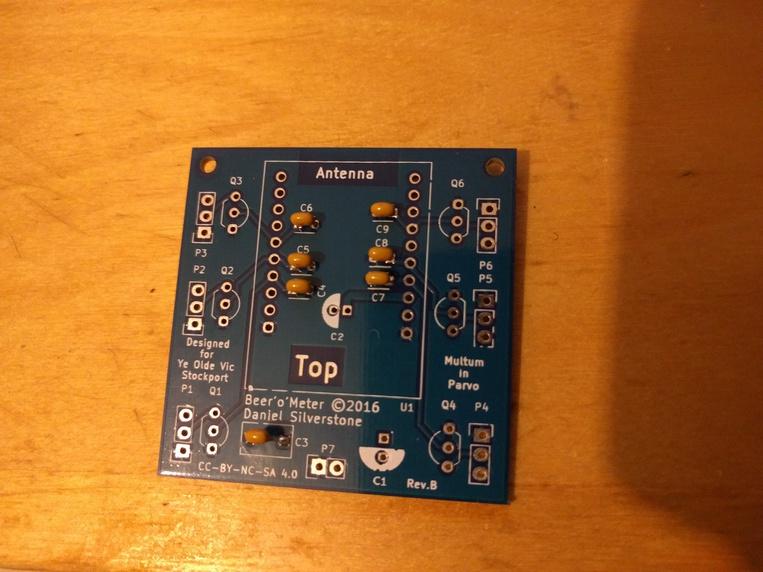 Step 1, ceramic capacitors