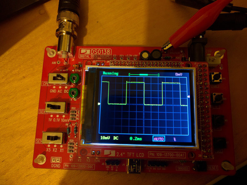 Working oscilloscope!