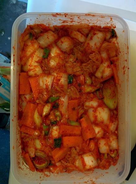 Box of kimchi